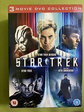 Star Trek 3 Movie DVD collection Star Trek Beyond and Into Darkness