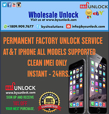 AT&T Factory Unlock Service iPhone 6s 6s+ 6 6+ 5s 5c 4s 4 SE & ALL iPad Code ATT