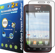 2x Anti-Glare Matte LCD Screen Protector Film LG Optimus Dynamic II 2 LG39C L39C