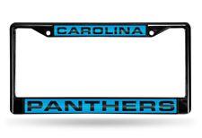 Carolina Panthers NFL Black Metal Laser Cut License Plate Frame