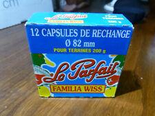boite de 12 capsules pour terrines 200grs Familia Wiss  LE PARFAIT diam. 82mm