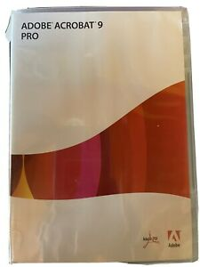 Adobe Acrobat 9 Pro for Windows with serial number (Read Description)