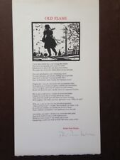 """Old Flame"" broadside poem by Robert Penn Warren (1978) SIGNED, Limited edition"