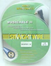 """Straightwire MUSICABLE II 1/8""""3.5mm to dual Male RCA iPod Audio Cable 1 Meter"""