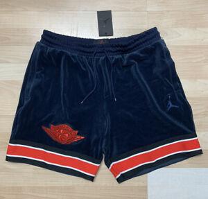 Air Jordan Gold Chain Basketball Nike Shorts BV4045-451 Velvet Velour Mens Sz XL