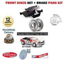 Para Toyota Celica Gt4 & importación st165 1988-1990 Frontal discos de freno de configurar y almohadillas Kit