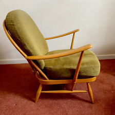 VIntage Retro Ercol Blonde 203 Windsor Wooden Armchair Chair Seat with Cushions