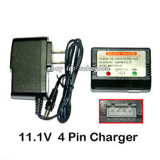 Charger 11.1V Battery 4-pin G.T.Model QS 8005 JTS 825 828 HCW Sky King 8500 8501