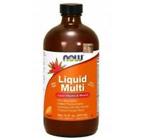 NOW FOODS Liquid Multi (Vitamins and Minerals) 473ml Orange FREE SHIPPING