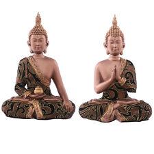 Thai Buddha Sitting - Gold Fabric Effect - Buddhism 24 cm high by 17cm  wide