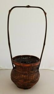 """Woven Bamboo Basket  18""""  x 7"""" New"""
