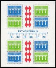 Monaco Scott #1425a VF MNH 1984 Europa - Bridge Mini-Sheet of 8