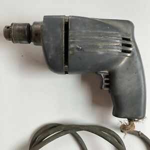 """VTG Antique Cummins Electric Drill Model 304, 3/4 """" 115 Volts WORKS, Cord Frayed"""