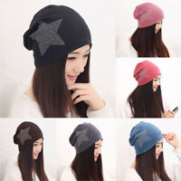 Women Fashion Star Pattern Cotton Slouchy Beanie Hat High Quality Casual Ski Cap
