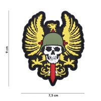 Airsoft morale patch skull Spain  v2 3d PVC  hook and loop ET
