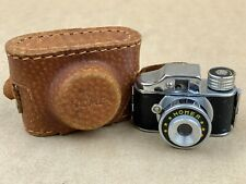 HOMER Hit Type Vintage Subminiature Camera w/Leather Case - Clean !