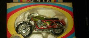 Polistil Motorrad GT 50 Moto Guzzi V7 Sport 750cc ovp grünmet rot ca v 1970