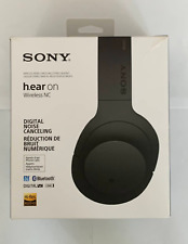 Sony - h.ear MDR-100ABN Over-the-Ear Wireless Headphones - Charcoal black