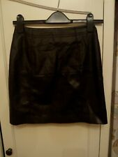 River Island Leather Look Skirt Size 6