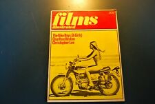 Vintage Film Illustrated August 1971 biker boys & girl rare collectable magazine