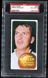1970-1971 Topps Basketball #82 ERWIN MUELLER Detroit Pistons PSA 6 EX-MT