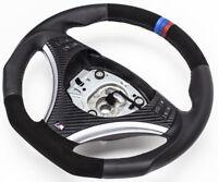 Aplati Alcantara Volant en Cuir BMW M-POWER E81 e90 e91 e92 e93 Neuf Cuir