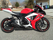 CUSTOM RED REFLECTIVE RIM STRIPES WHEEL DECALS TAPE STICKERS HONDA CBR 600RR F4i