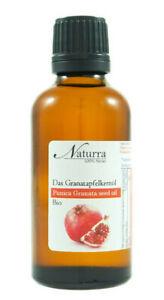 27,9€/100ml Granatapfelkernöl Bio unraffiniert kaltgepresst nativ 50ml im Glas