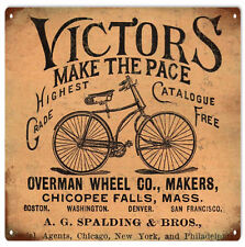 Victors Make The Pace Bicycle Sign Garage Art
