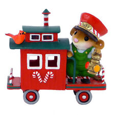 Wee Forest Folk Miniature Figurine M-453f - 2013 Christmas Caboose
