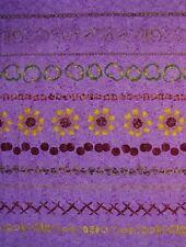 "1 yard ""Pizza Party Stripe"" Purple 100% Cotton Fabric- Pepperoni/Olives/Mushroom"