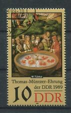 DDR ABART 3270 DD MÜNTZER 1989 DOPPELDRUCK!! ERROR DOUBLE PRINT!!! a5394