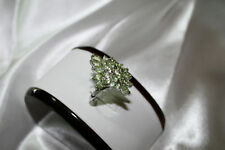 Peridot cluster ring..4 carats of gemstones in Sterling Silver