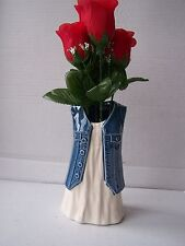 SM ceramic blue denim white dress novelty vase planter dressing table ornament