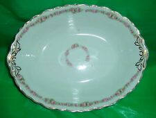 Vintage Johnson Brothers England Oval Vegetable Bowl Rose Antique