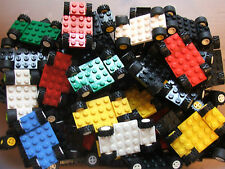 3 x Lego  Random Colour Go Kart Vehicle Base Chassis Build Own F1 Racing Car