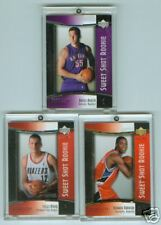 COLLECTION OF 3 2004-05 UD NBA SWEET SHOT ROOKIE CARDS