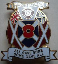HEARTS FC MCcrae's Own Battalion Poppy Badge