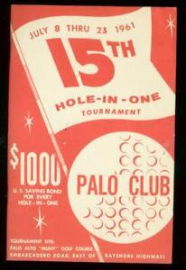 15th Annual Palo Alto Hole-In-One Golf Program July 8 1961 VF
