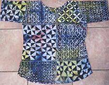 Women's Shirt of Unique,Traditional Handmade Batik Fabric by Nigerian Artist/M