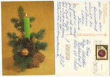 33358 - Frohe Weihnachten - Kerze - DDR-Ansichtskarte, gelaufen