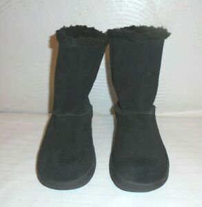 ANIMAL Black Suede Winter Boots * 3 uk * FUR LINED Excellent Condition
