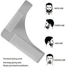 New Stainless Steel Beard Comb Metal Hair Comb Beard Shaping Shaving Tool Comb R