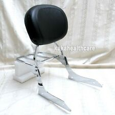Big Curve Cushion Backrest Sissy Bar SET For Honda Shadow Aero VT750 C VT750C
