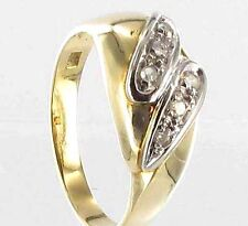 585 ECHT GOLD *** Diamant Brillant Ring  Gr. 56  (18), bicolor