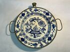 Antique+Porcelain+Hot+Water+Warming+Plate+Onion+Metal+Base+Germany+WMF