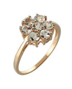 Morganite Handmade Natural Gemstone Ring 1.07 Ct. 10k Rose Gold Jewelry