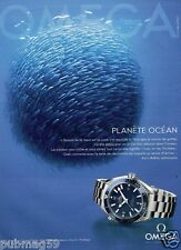 Publicité advertising 2012 La Montre Omega Speedmaster Planète Ocean