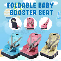 Portable Baby Toddler Dining High Chair Feeding Booster Seat With Harness