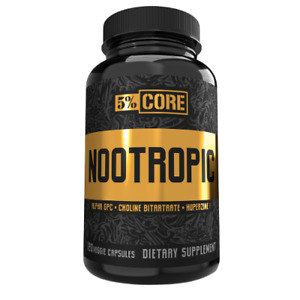 Rich Piana 5% Nutrition 5% Core SUPPER 💥Nootropic 💥120 Capsules 💥 NEW 2021💥